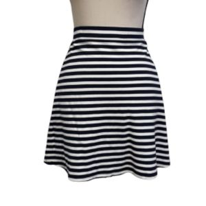 LOFT STRIPED & POCKETED SKIRT